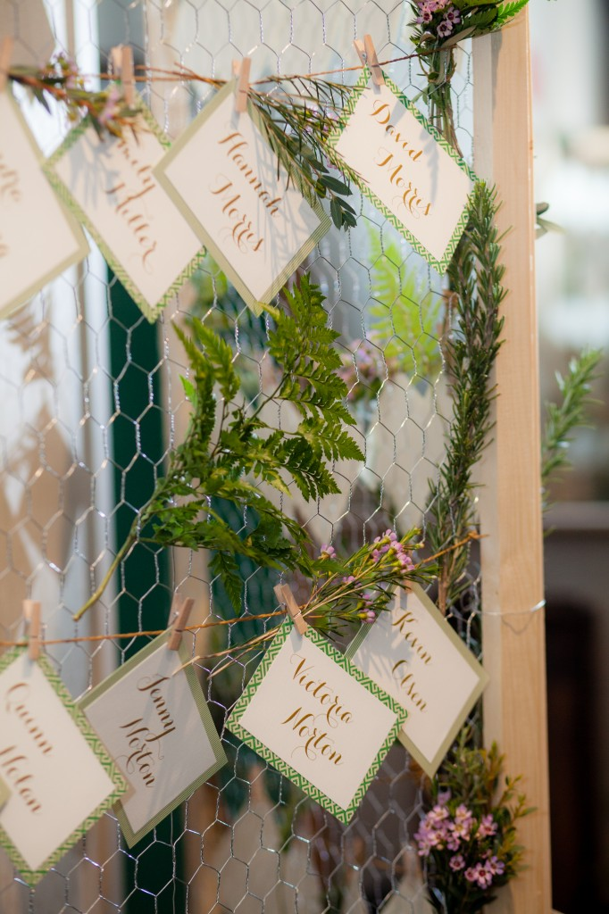 unique rustic bohemian escort card display