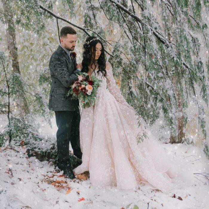 Eliza & Michael Winter Wedding